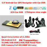 "5.0 de "" tabuleta capacitiva PCS do carro do Android 6.0 854*480pixels IPS com navegador do GPS, câmera dupla do carro, 1080P carro DVR, gravador de vídeo de estacionamento de Digitas da câmera, WiFi"