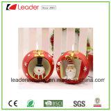 Venta caliente Santa y pingüino Figurines sostenedor de vela para los ornamentos de Navidad