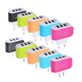 3ポートLED軽くスマートなキャンデーカラー携帯電話旅行USBの充電器