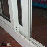 Ventana de desplazamiento de aluminio de aluminio revestida de la ventana de desplazamiento del polvo K01077
