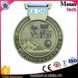 亜鉛合金は金属のクラフトの生産の骨董品の黄銅メダルをカスタム設計する