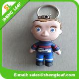 Gummi der Doule Größen-3D scherzt Jungen Keychain mit grossen Augen