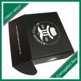 Caixa de envio pelo correio preta feita sob encomenda e flauta dos produtos do empacotamento comercial