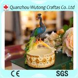 熱い販売の美しい孔雀の置物の携帯用動物の灰皿