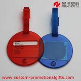Etiqueta plástica circular de la identificación del nombre del equipaje del recorrido