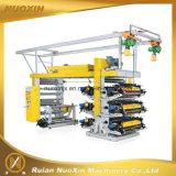 6 Machine van de Druk van het Etiket van de kleur de Plastic Flexographic