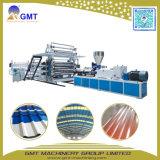 Dach-Blatt-Fliese-Panel-Plastikextruder-Maschine der Single+Multi Schicht-PVC+PP+Pet gewölbtes
