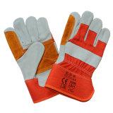 Kuh-aufgeteiltes Leder-Arbeitssicherheits-Handhandschuh-Verstärkung die Palme