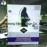Van de LEIDENE van het aluminium Teken van de Decoratie van het Frame het Slanke Doos van de Stof Lichte