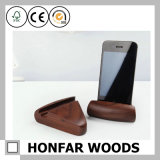 Moderner Art-Buchenholz-Telefon-Halter für Dekor oder Geschenk