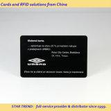 Cartões no cartão preto do plástico do cartão do PVC do cartão