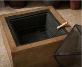 """Il legno del Faux del quadrato esterno 23 """" comercia il camino all'ingrosso del pozzo del fuoco"""