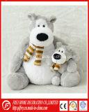 Branco pintado Plush Mohair Urso de peluche com braço móvel