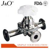 Válvula de diafragma higiênica do comentário elevado com peças separadas