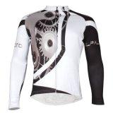 White&Blackの男性防風の長い袖の冬の熱循環ジャージー