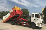 El brazo resistente 6X4 de Dongfeng cae el equipo de la basura del compacto del gancho de leva del carro