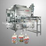 Milchverpackung-Füllen und Schutzkappen-schraubende Maschine