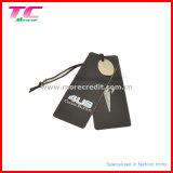 La alta calidad personalizó el Hangtag del papel de la ropa de la etiqueta de la caída del papel de la ropa