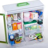 Bunter gesunder Medizin-Ablagekasten mit Verschluss und Griff
