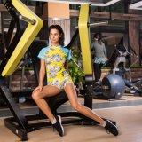 Sportswear втулки краткости гимнастики пригодности йоги Sweat женщин идущий