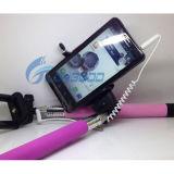 Тональнозвуковым тренога связанная проволокой кабелем Selfie ручки Extendable Handheld Monopod