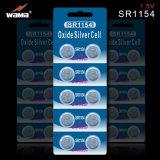 Silberne Oxid-Uhr-Batterie Sr44 1.55V