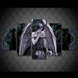 HD ha stampato la tela di canapa Mc-027 della maschera del manifesto della stampa della decorazione della stanza di stampa della tela di canapa di pittura del cranio della ragazza di angelo