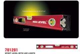 Livello di spirito professionale con l'indicatore luminoso del LED (701201)