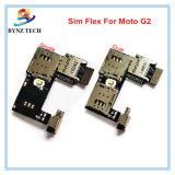 Гибкий трубопровод карточки SIM для подноса шлица гнезда памяти SD держателя Moto G2 Xt1068 Xt1069 g 2-ого микро-