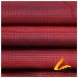 agua de 75D 220t y de la ropa de deportes tela tejida chaqueta al aire libre Viento-Resistente 100% de la pongis del poliester del telar jacquar abajo (E047K)