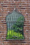 Weinlese Bridcage Form-Wand-Spiegel u. Fenster-Spiegel