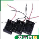 3AA Batteriehalterung mit den roten/schwarzen Leitungen