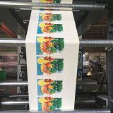 Machine d'impression à base d'eau accessible de Flexo d'encre de roulis non tissé de tissu
