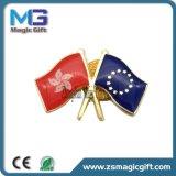 Spelden van het Metaal van de douane de Goud Geplateerde, de Zachte Spelden van de Revers van de Vlag van het Email met Epoxy