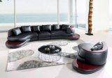 Sofá da mobília da sala de visitas com o grande sofá de couro secional de canto para o sofá Home