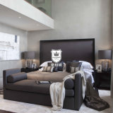 2016 New Design Hotel Bedroom Furniture estofado com tecido