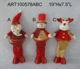 Poignée de porte de luxe d'orignaux de bonhomme de neige de Santa avec le tintement Bells, décoration d'Asst-Noël 3