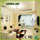 60台のワットの同等の暖かい白E12 LEDの装飾的な蝋燭の電球のCandelabraベース