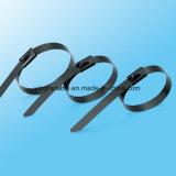 asa revestida do aço inoxidável do poliéster 304 316 que trava a cinta plástica