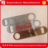 Abrelatas de la botella de cerveza plana del metal de la insignia de la impresión del acero inoxidable