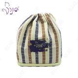 ギフトのパッケージのためのカスタマイズされた格子縞の綿のドローストリング袋