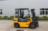 EPA 엔진 일본 Mistsubishi Psi를 가진 2.5ton LPG/Gasoline 포크리프트는 해외로 서비스하기 위하여, 유효한 설계한다