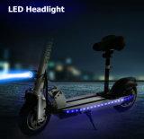 24V 250W, das elektrischen Roller mit LED-Licht faltet