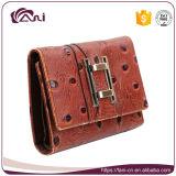 Бумажник для повелительниц, таможня малого размера ручной работы кожаный выбил бумажник