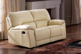 熱販売する現代家具のベージュ革手動リクライニングチェアのソファー(HC011)を