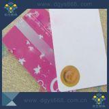 Escritura de la etiqueta de sellado caliente del holograma en tarjeta del PVC