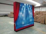 Le tissu en gros d'approvisionnement d'usine sautent vers le haut le stand, cabine moderne d'exposition