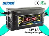 Suoer 12V 6A LCD Bildschirmanzeige-intelligentes schnelles Ladegerät (SON-1206D)