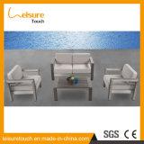 Allwetter- moderner Garten, der Sofa mit Patio-Garten-Möbel-Rahmen des Kissen-T15 im Freienin anodisiertem Aluminiumsofa-Set speist
