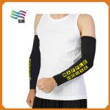 L manicotto freddo su ordinazione del braccio del tessuto dello Spandex con il marchio stampato